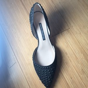French connection beaded heels in black size 10